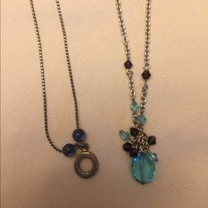 2 antique beaded detail necklaces